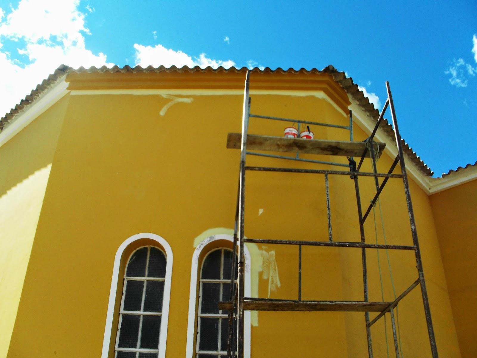 Igreja Matriz em Almino Afonso passa por reformas