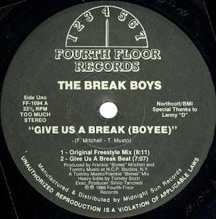 Break Boys, The - Give Us A Break (Boyee) (Vinyl, 12\'\' 1988)(Fourth Floor Records)