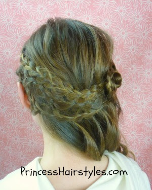 side swept braided hairstyle