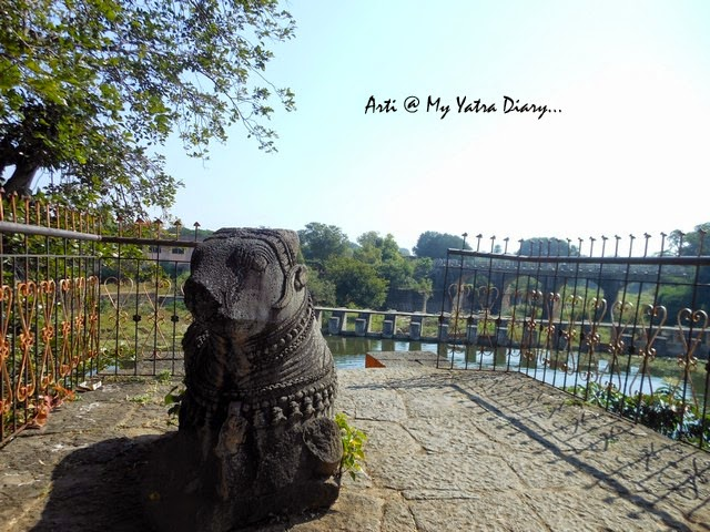 Life like Nandi Bull at the Sangameshwar Shiva Temple, Saswad entrance, Pune