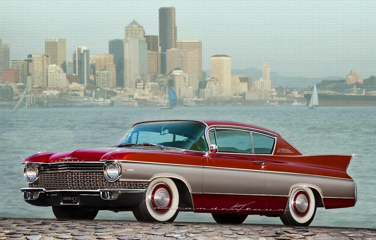 Casey artandcolour cars february 2012 - 1960 Cadillac Series 52 First Senior Compact