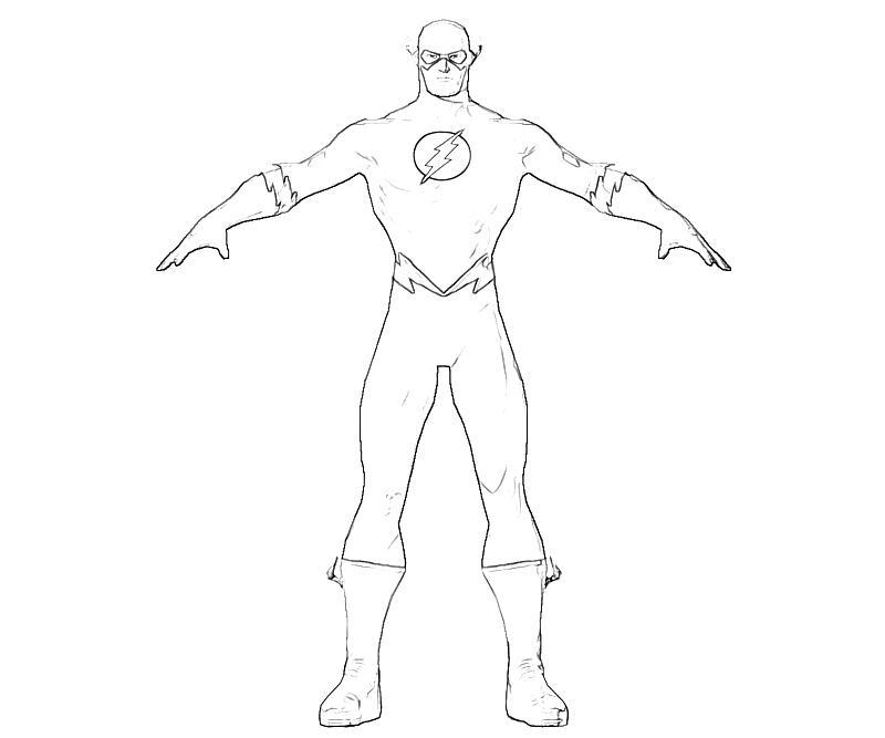 Injustice gods among us flash thunder mario for Flash da colorare