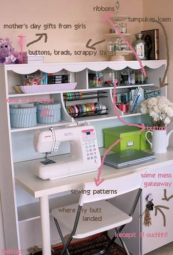 Let it shine design big creativity from a small space for Sewing room design ideas small space
