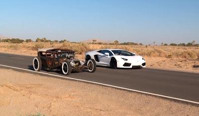 Roadkill Pits Rat Rod Against a Lamborghini Aventador