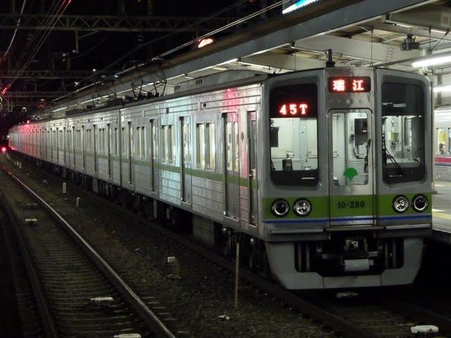 都営新宿線 各停 瑞江行き4 10-000形280F(終電運行)