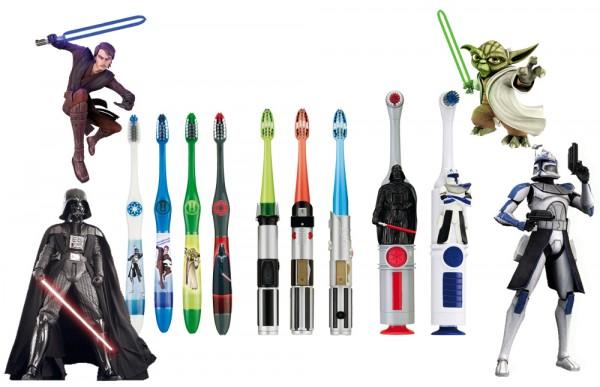 """30 lots de 3 brosses à dents """"Star Wars"""""""