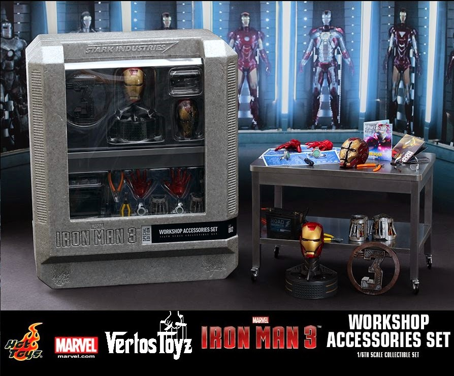 Pre Order Iron Man 3 Workshop Accessories 1/6th scale Collectible Set and repairman set.