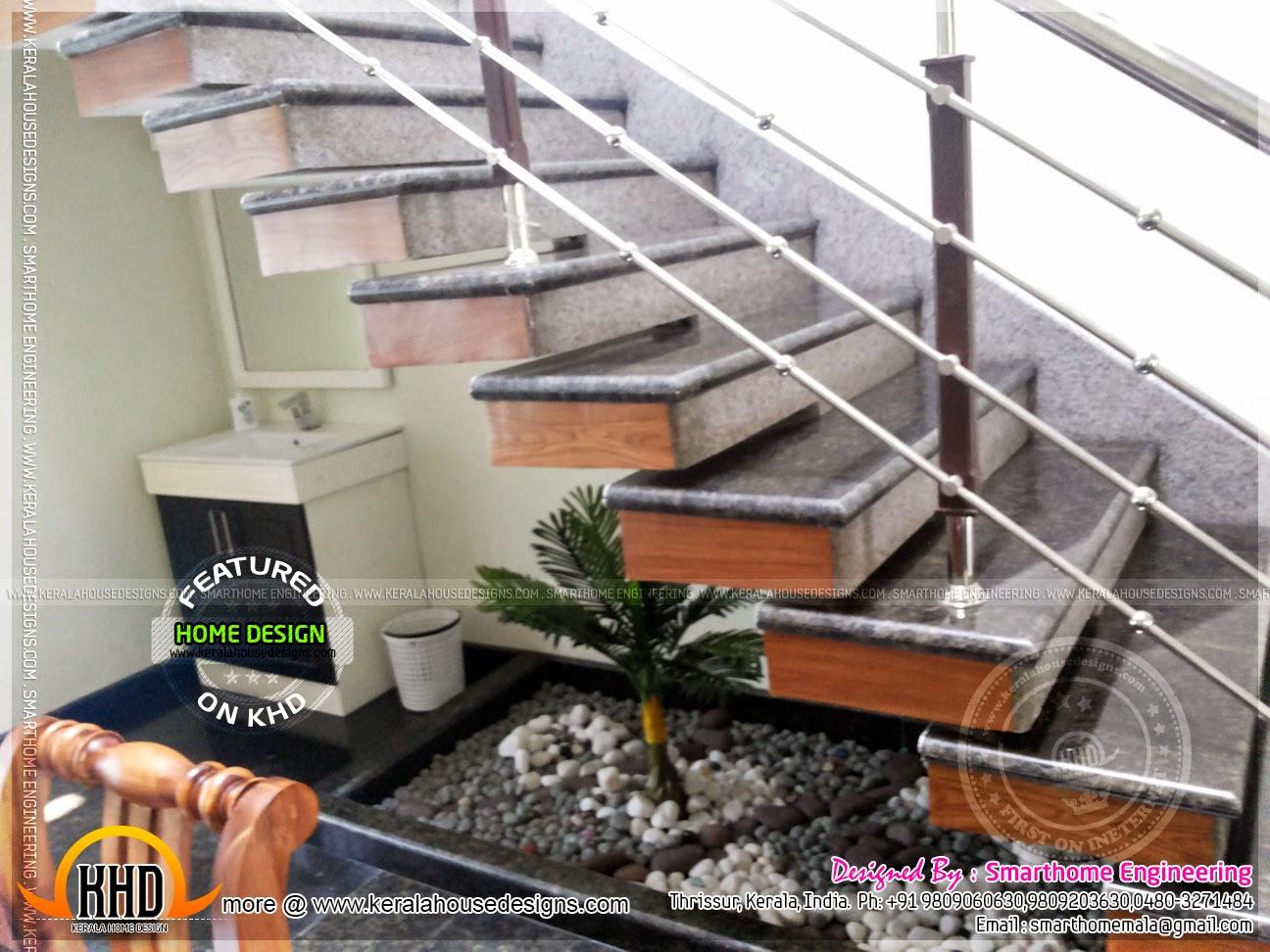 Ground Floor Single House Elevation : Contemporary kerala mix house at malapuram home