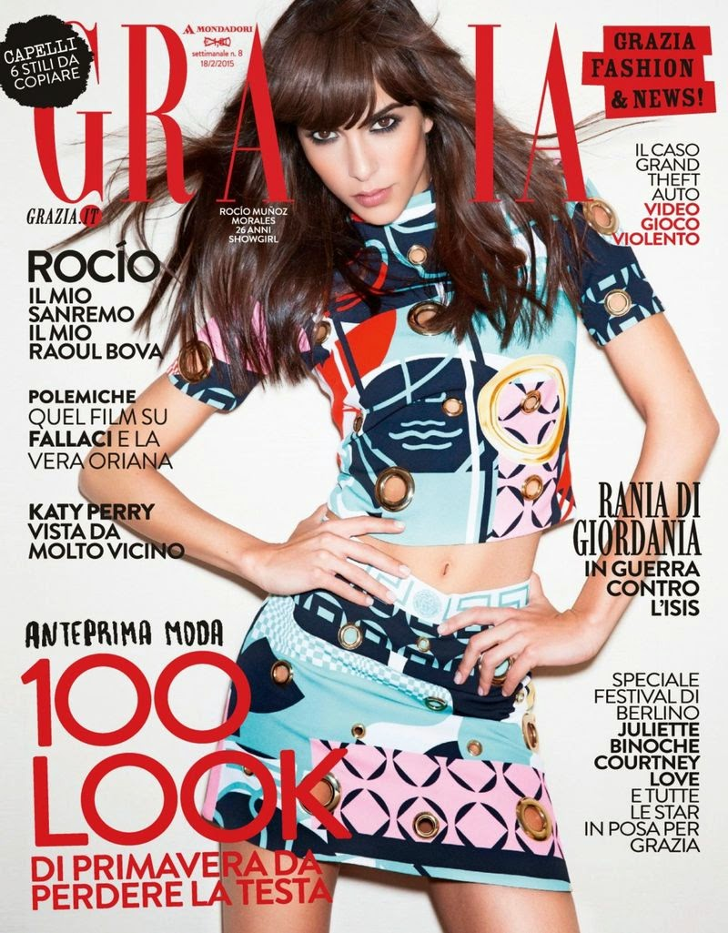 Actress, Model: Rocio Munoz Morales - Grazia Italy