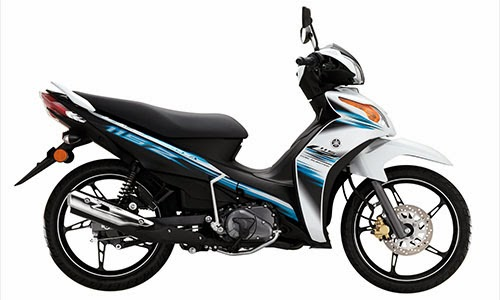 white colour yamaha lagenda 115z fuel injection 2013 warna putih