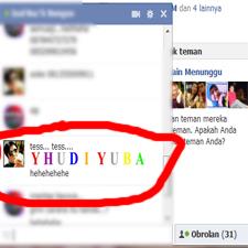 Yhudiyuba | Trik Membuat Tulisan Warna Warni Chat Facebook