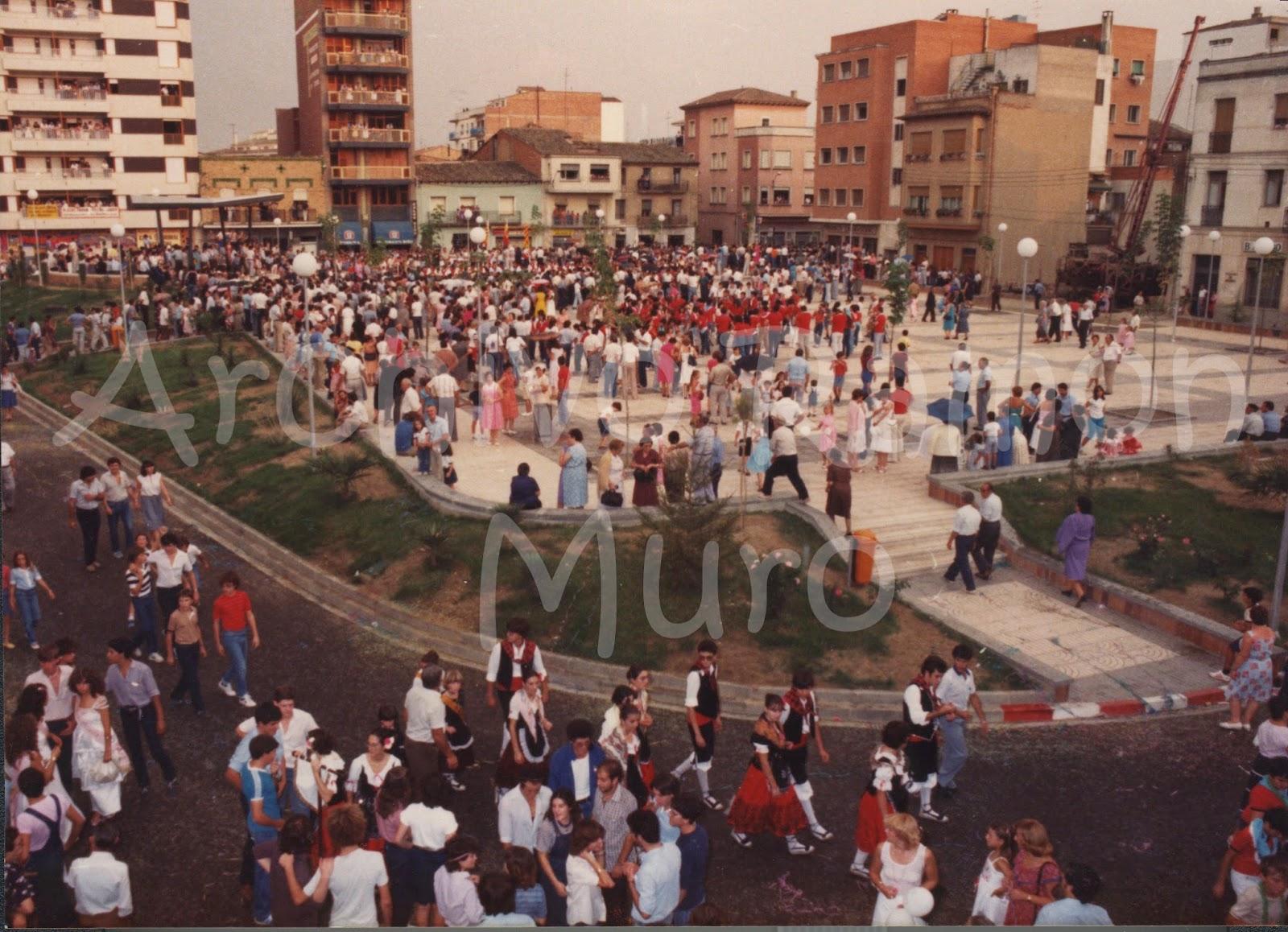 Binéfar en Fiestas : La Plaza España