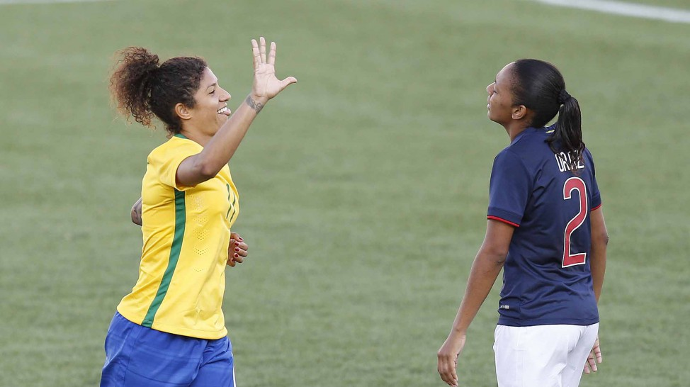 bcf8ce6058 FUTEBOL FEMININO PAN 2015  Seleção brasileira vence por 7 a 1 o Equador