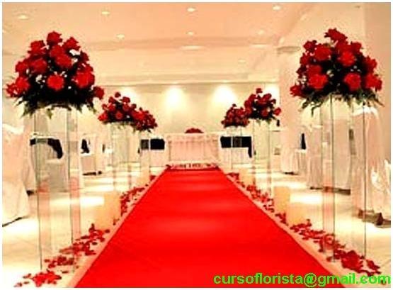 Noivas de Teresina Pi Decoraç u00e3o da Igreja Cores -> Decoração De Casamento Vermelho E Branco Simples Na Igreja