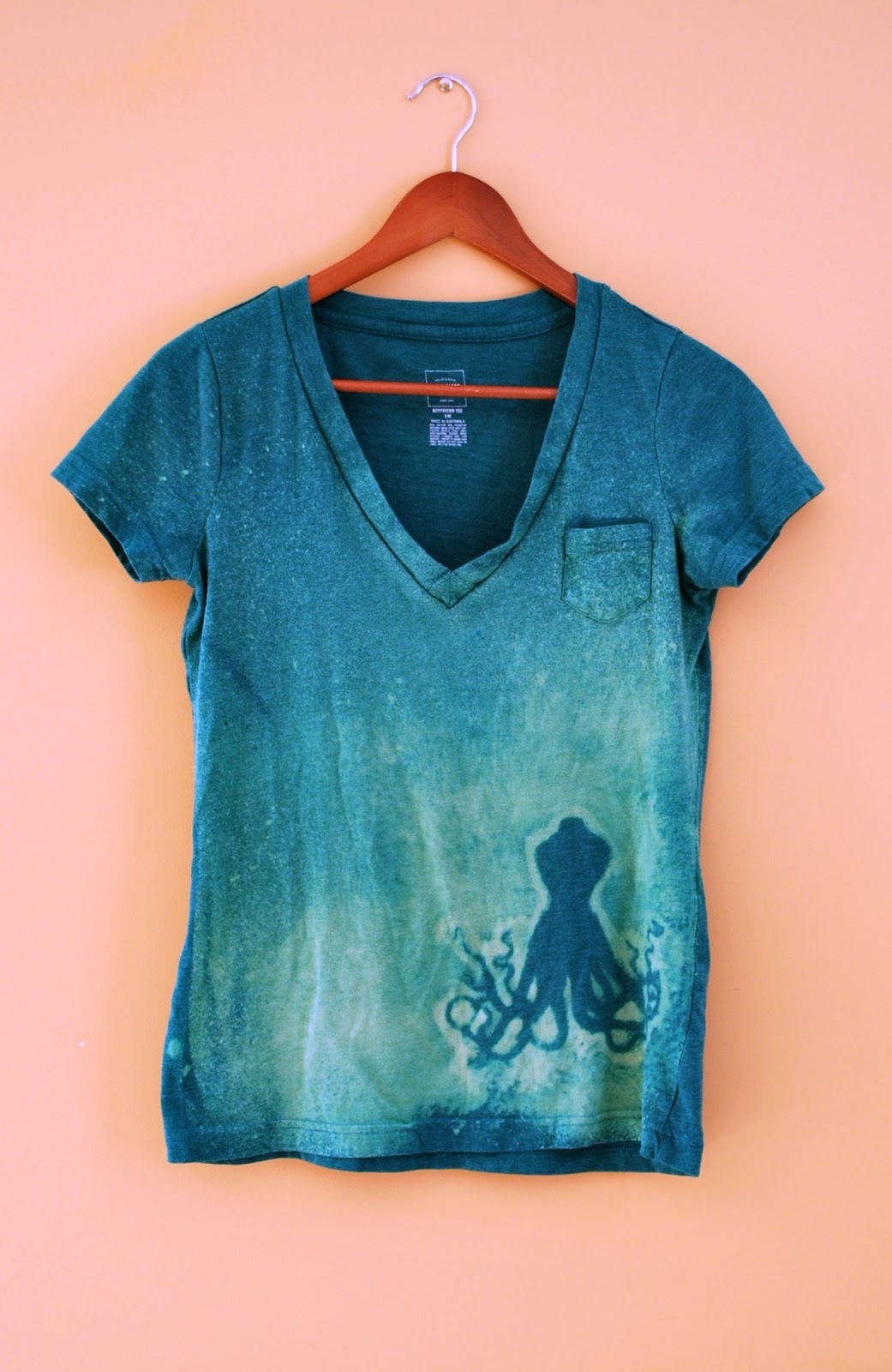 Lucille 39 s diy bleached design shirt for How to bleach designs into shirts