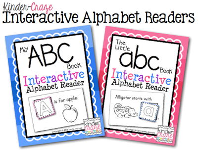 Interactive Alphabet Readers in Capital or Lowercase letters for only $3.50