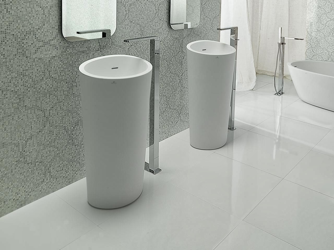 Lavabos para ba os abatimientos e intersecciones - Porcelanosa banos pequenos ...
