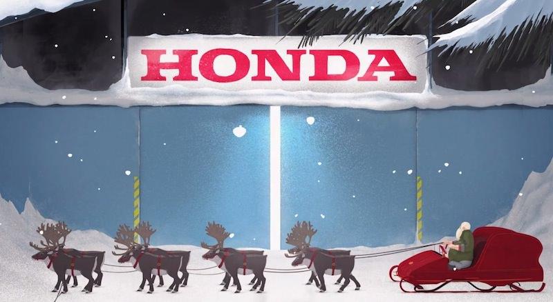 【動画】ホンダがサンタクロースの新型のそりを作り上げるアニメーション作品を公開