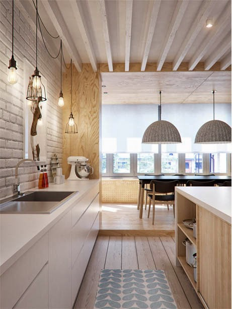 Scandinavian Kitchen and dining room