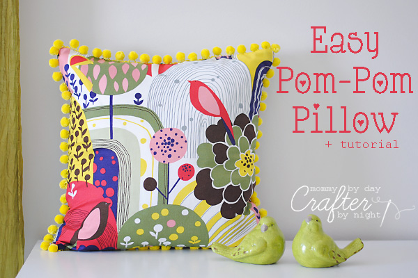 Mommy By Day Crafter By Night Easy PomPom Pillow Tutorial Cool How To Sew A Pillow Cover With Trim