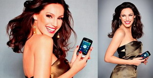 Kelly Brook is the LG Optimus One ambassador in the UK