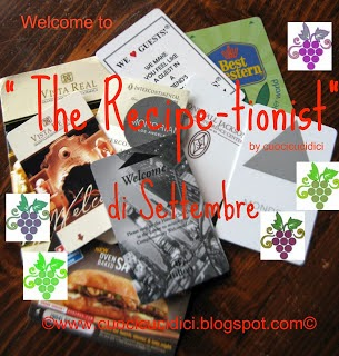 The Recipe-tionist di Settembre 2014!!