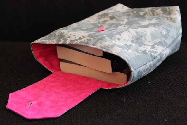 Pink Flannel & Camo Twill Gift Bags Reusable Army Party Favors Birthday by handiworkingirls