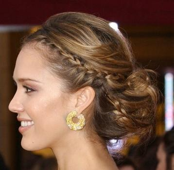 jessica alba short hair 2011. updos for prom for long hair.