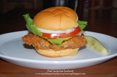 Breaded Pork Tenderloin Sandwich by Easy Life Meal and Party Planning