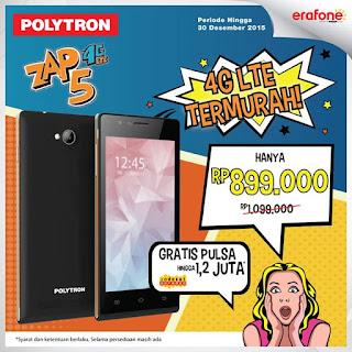 Promo Spesial Polytron Smartphone 4G LTE Rp 899 Ribu