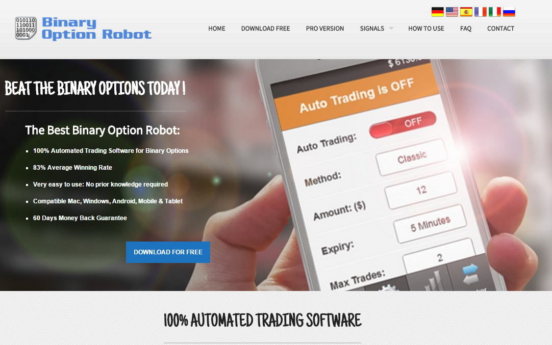 Binary option robot commenti