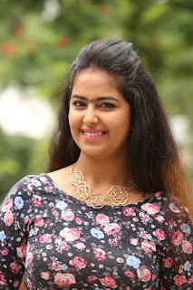 Avika Gor Looks So cute smiling Beauty Long Skirt Flower Print Top at Cinema Cupista Maava Movie Press Meet