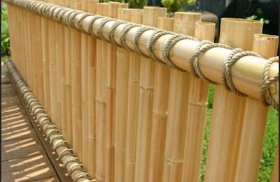 Desain pagar bambu rumah minimalis