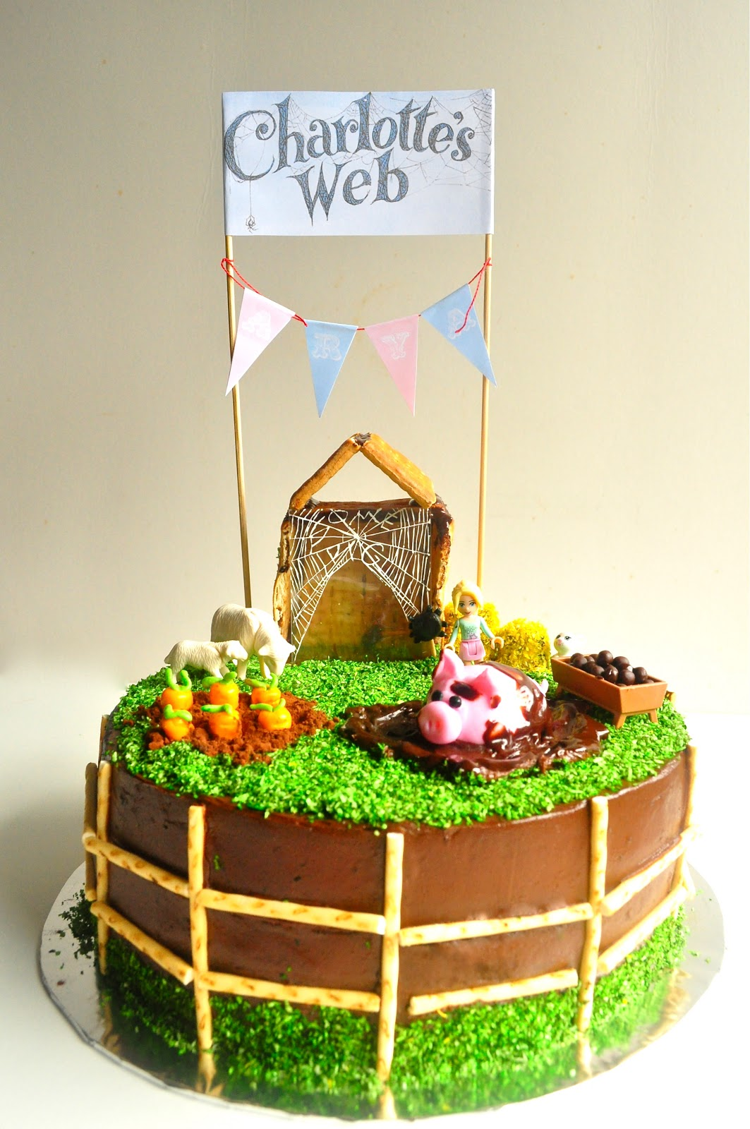 A Spoonful Of Sugah Charlottes Web Birthday Cake