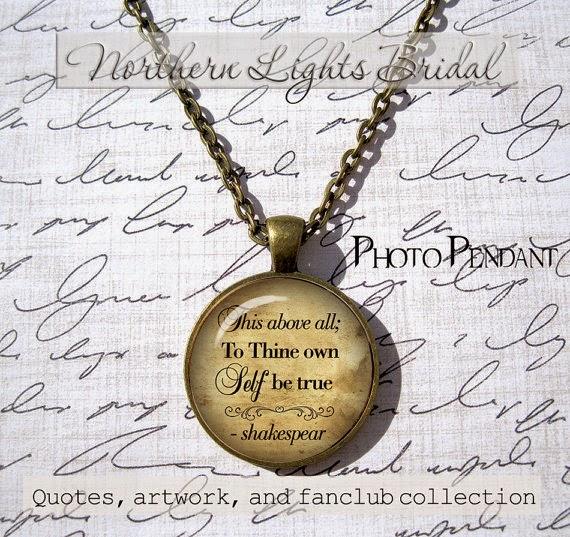 shakespeare quotes pendants