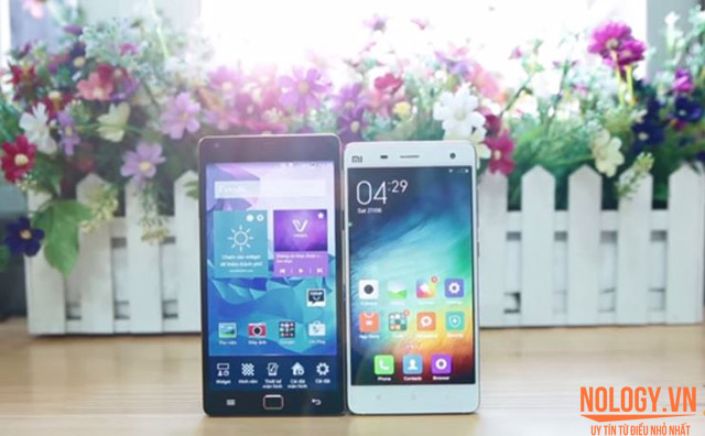 So sách đánh giá chi tiết Sky a910 và Xiaomi Mi4