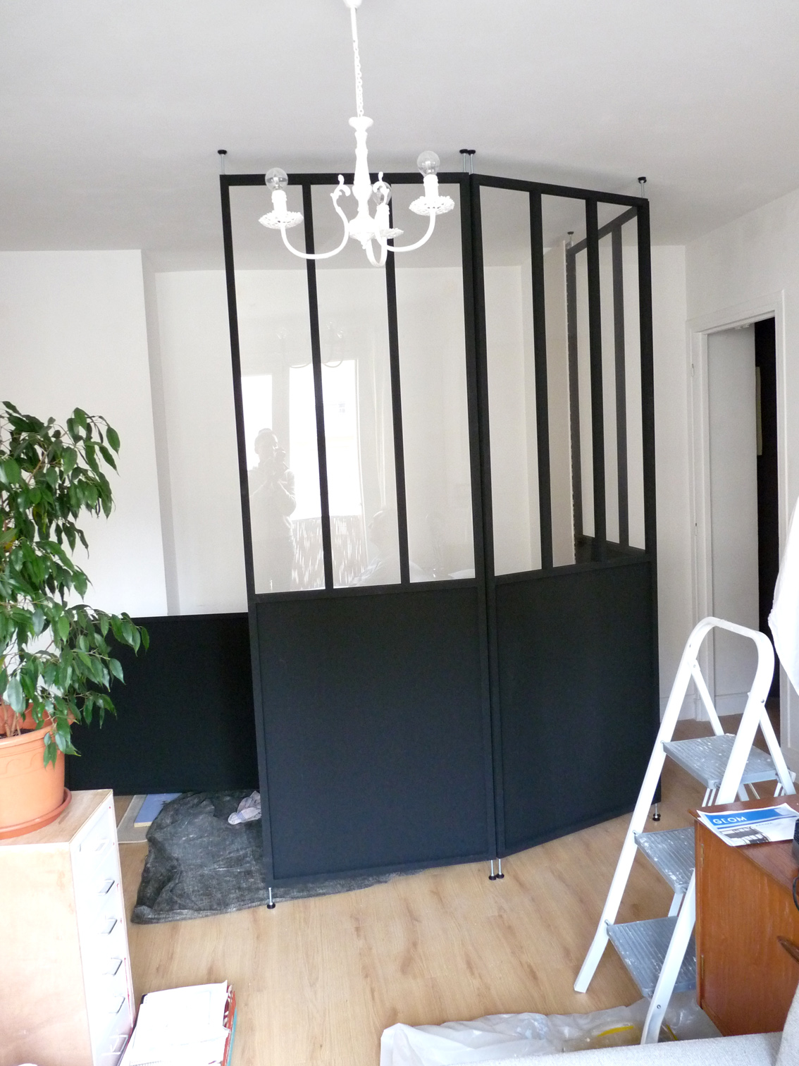 2eme porte a gauche cr ation d 39 un coin nuit dans une. Black Bedroom Furniture Sets. Home Design Ideas
