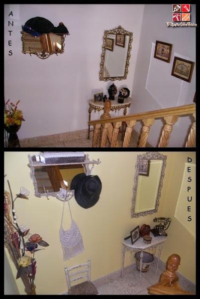 El antes y el despu�s de un recibidor