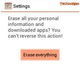 htc explorer reset