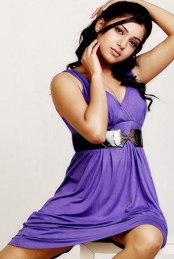 Samantha Violet Dress1 - Samantha hot pics in Violet Dress