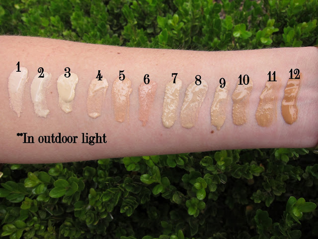By Terry Cover Expert foundation swatches