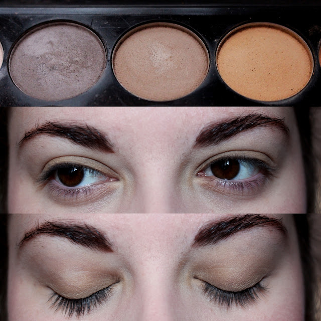 Maquillage palette sleek au naturel cappuccino swatch