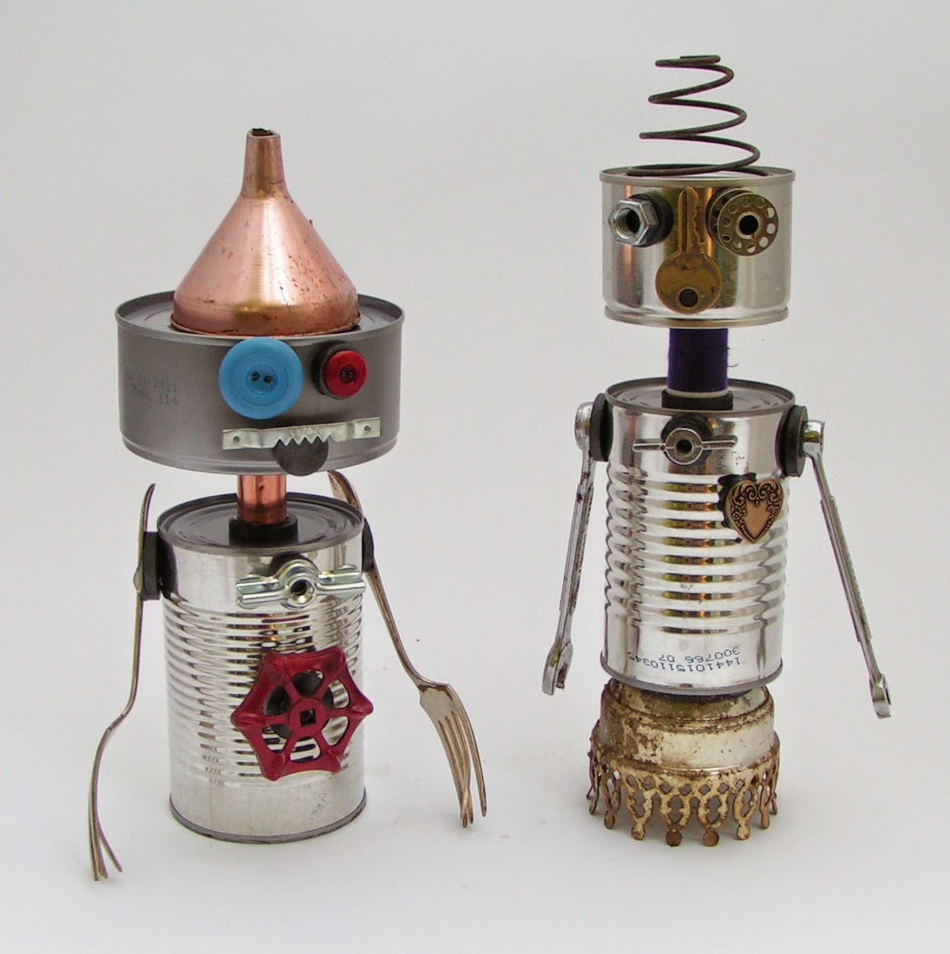 Recycle craft for kids robotic tin can arts and crafts - Recycled can art projects ...