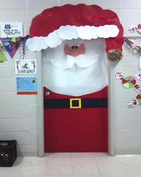 decoracao de sala natal : decoracao de sala natal:ATIVIDADES EI: Dicas de decoração das portas da sala para o natal