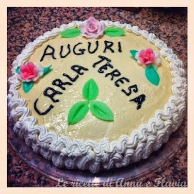 torta di compleanno crema, panna e cioccolato