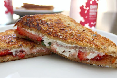 Goat Cheese and Strawberry Grilled Cheese --Do you see a trend? Yep ...