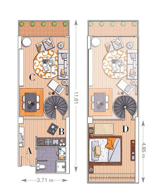 plano apartamento 58 m2