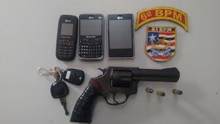 SÃO LUÍS: Policia Militar prende três bandidos, recupera carro roubado e apreende uma arma de fogo