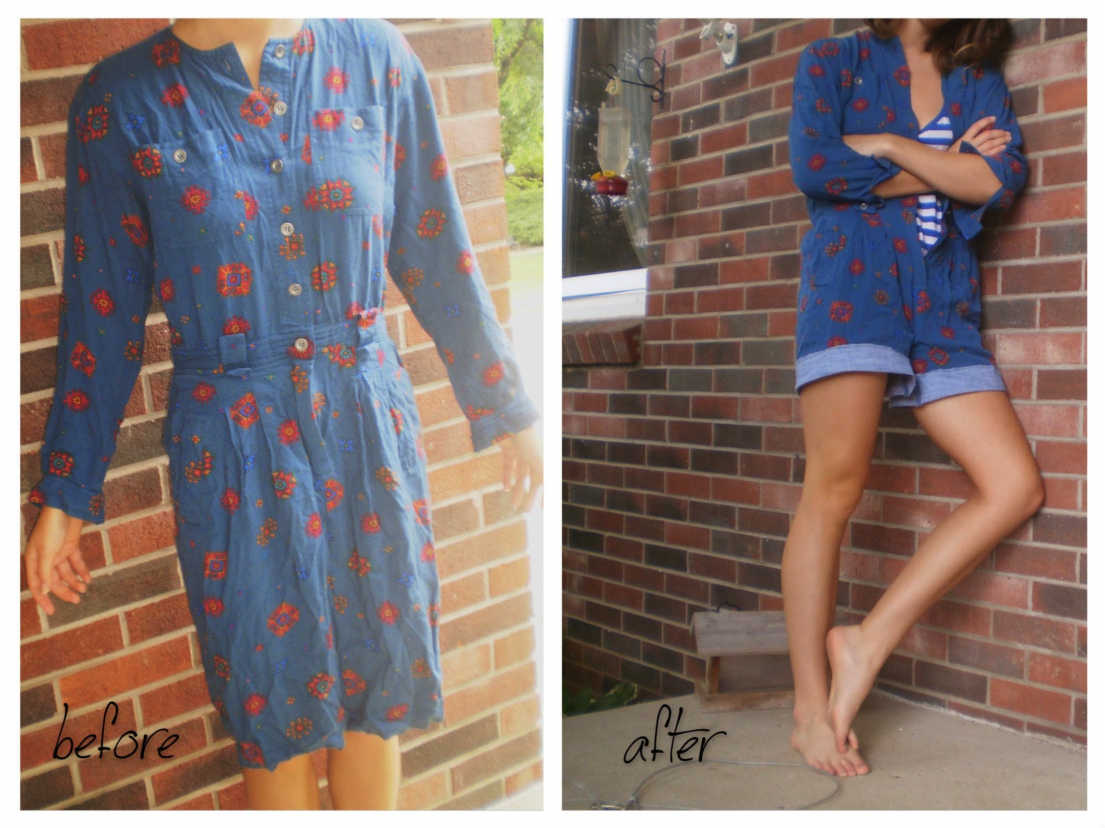 How to make a long dress into a romper