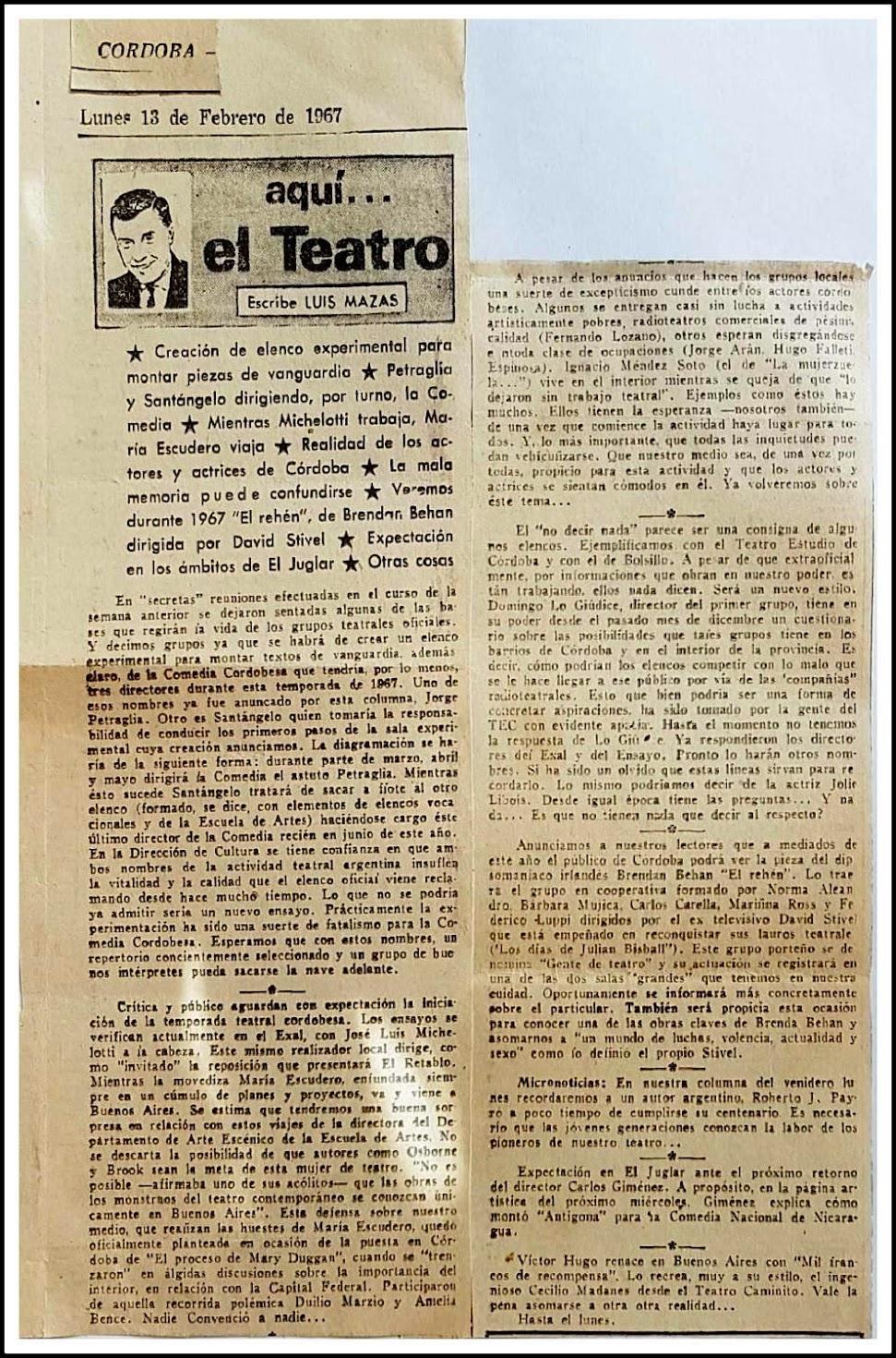 ANTÍGONA, de Anouilh, con la Comedia Nacional de Nicaragua, 1966